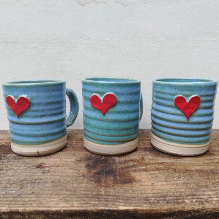 Rosie Pottery_Heart Mugs 1